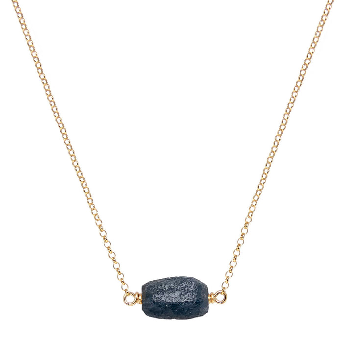 Raw Sapphire Crytal Necklace - gold - Blooming Lotus Jewelry