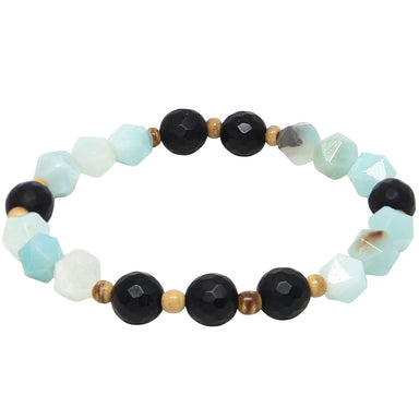 Seeing Clearly Bracelet | Matte Onyx, Amazonite, Coconut Shell