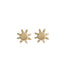 Soleil Stud Earrings | Solid 14K Gold