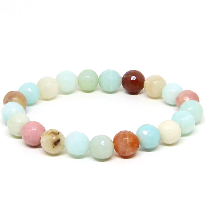 Speak Gently Bracelet | Amazonite, Rutilated Quartz, Rhodonite