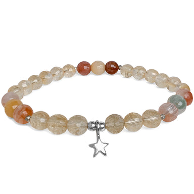 Star Light Bracelet | Citrine, Rutilated Quartz