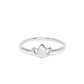 Teeny Tiny Lotus Ring | Sterling