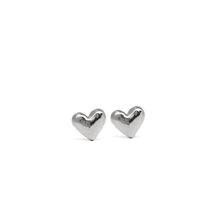 Tiny Heart Stud earrings - silver - Blooming Lotus Jewelry