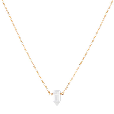 Tiny Master Healer Clear Quartz Necklace - gold - Blooming Lotus Jewelry