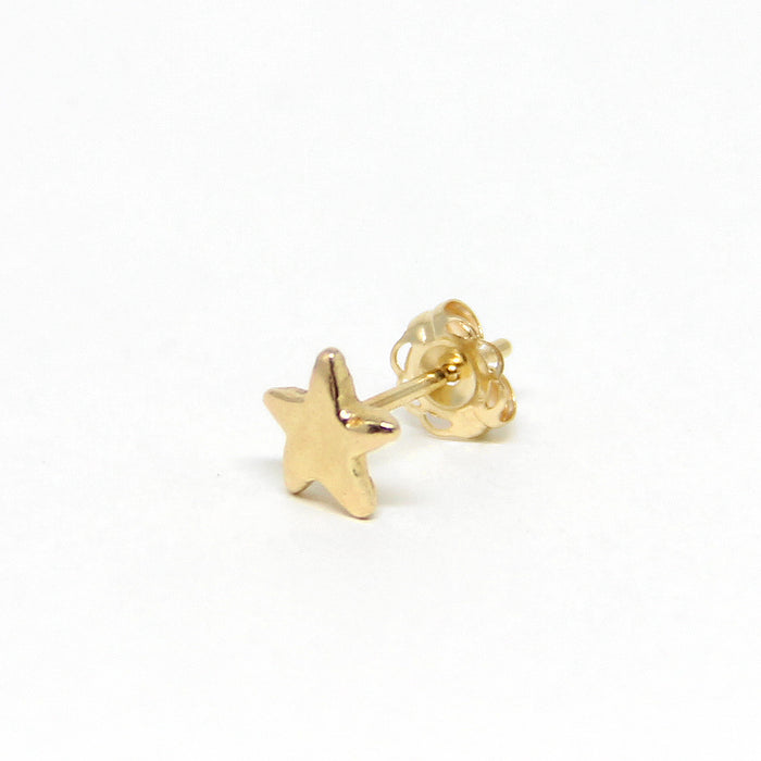 Star Stud Earrings | Solid 14K Gold