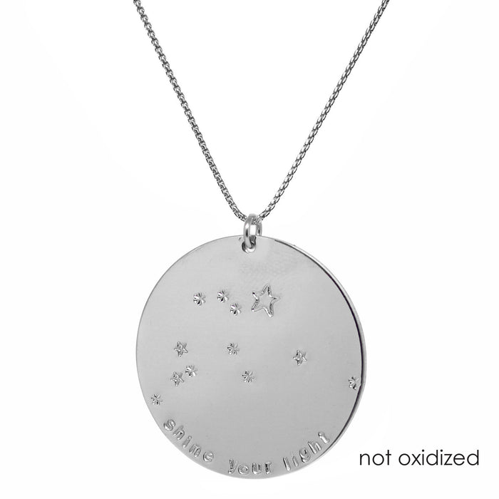 Zodiac Constellation Mantra Necklace | Large | Sterling