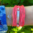 Custom Mantra Bar Silk Wrap - Blooming Lotus Jewelry