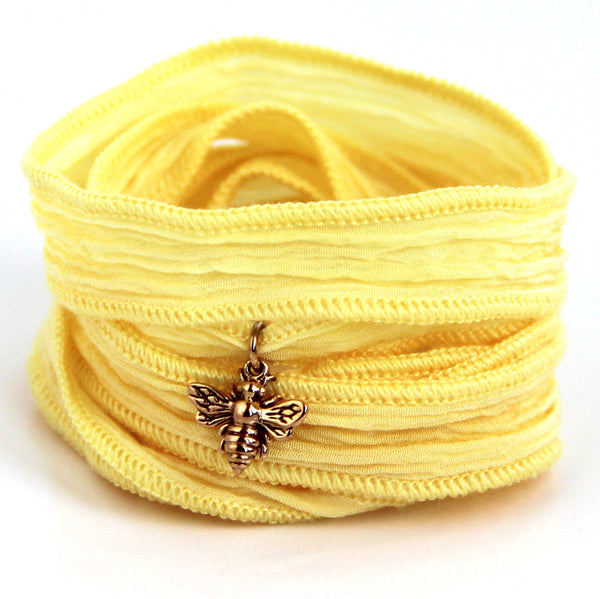 Bumble Bee Silk Wrap (yellow) - Blooming Lotus Jewelry