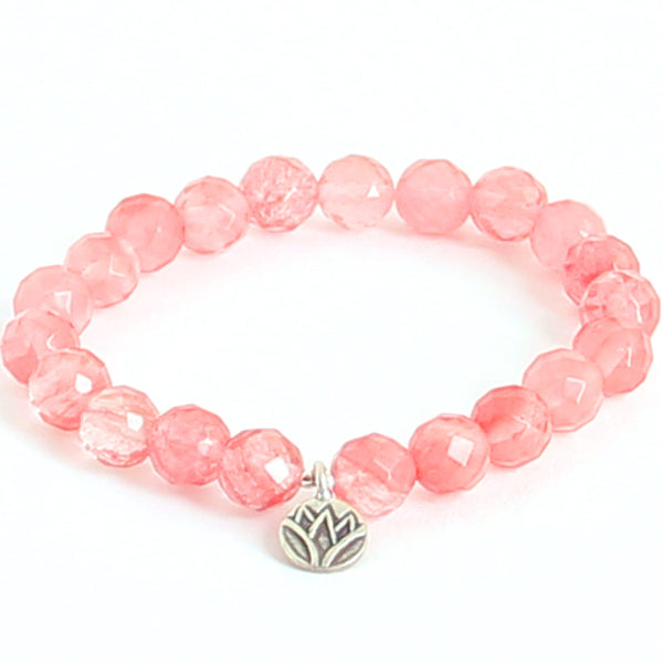 Lotus & Cherry Quartz - Blooming Lotus Jewelry