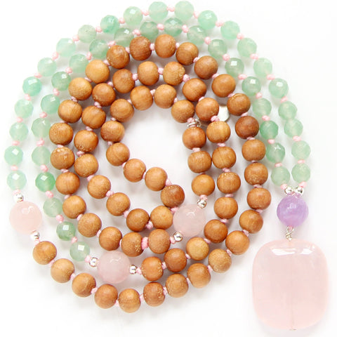I Am Loved Mala (Heart Chakra)
