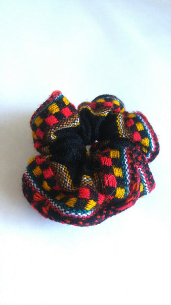 Hair Scrunchie- Checkered