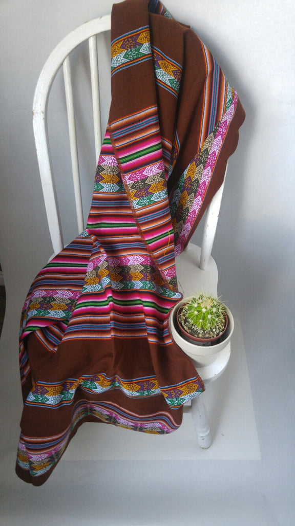 "Handwoven Blanket- Chocolate Mousse 48"" X 42"""
