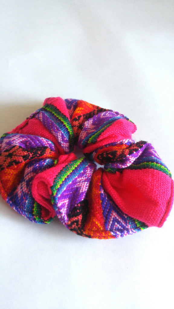 Hair Scrunchie- Bright Pink