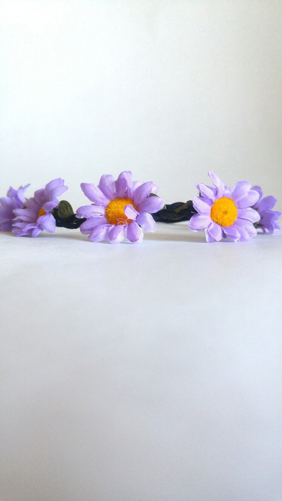 Floral Headband- Purple Daisy