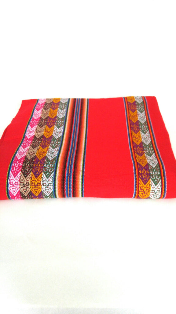 "Handwoven Blanket- Volcano Red 48"" x 82"""