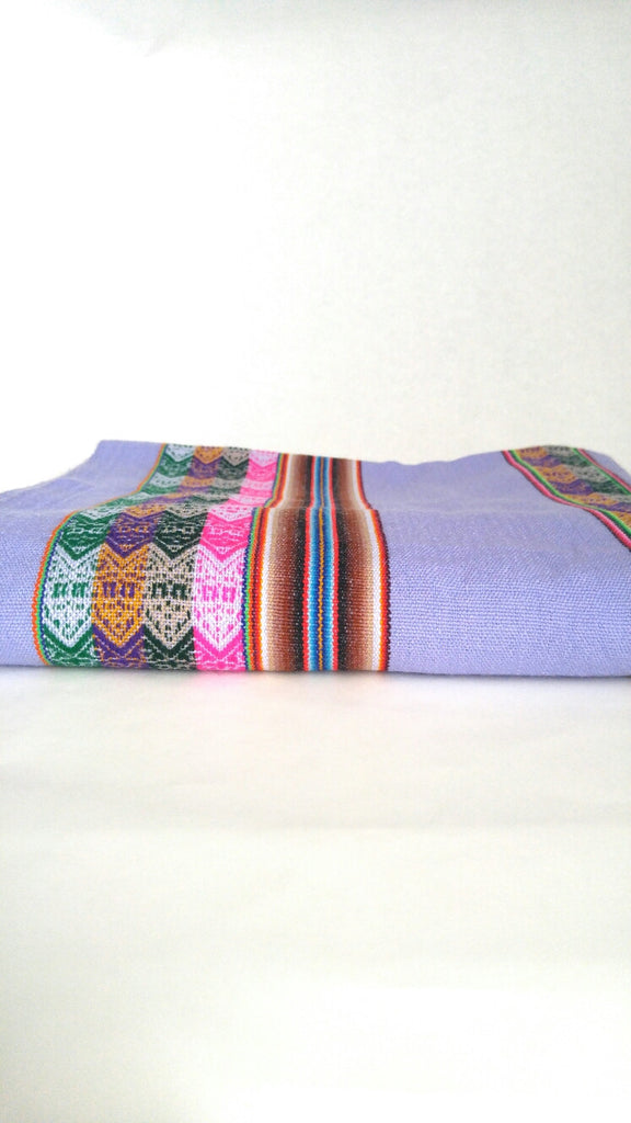 "Handwoven Blanket- Lilac Purple 48"" x 82"""