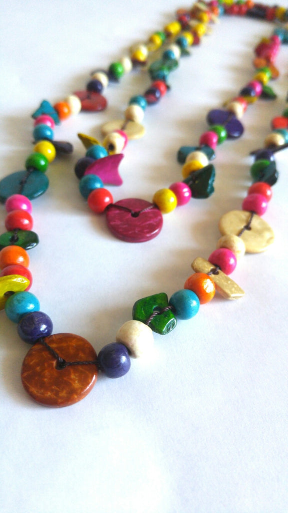 Wooden Necklace- Grely