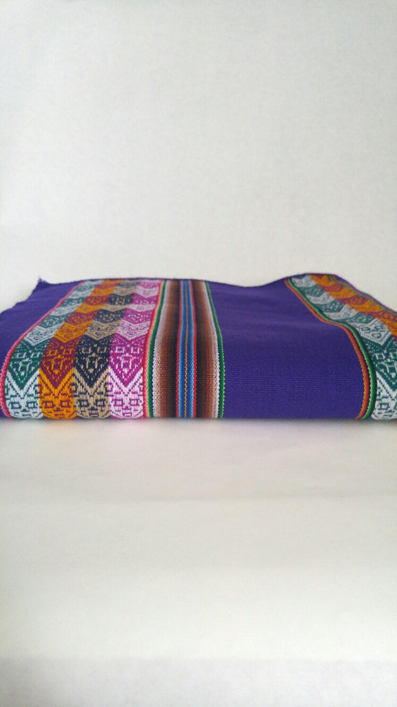 "Handwoven Blanket- Royal Purple 48"" x 82"""