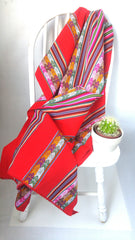 "Handwoven Blanket- Rosy Red 48"" X 42"""