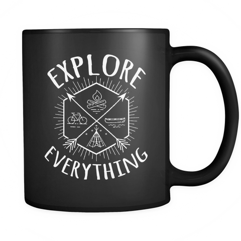 AdventuReady Store Drinkware Black Explore Everything - Black Coffee Mug