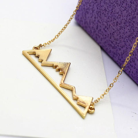 AdventuReady Store Gold Mountain Range Necklace