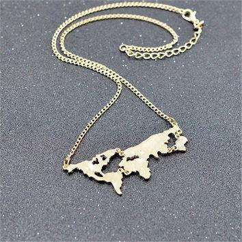 AdventuReady Store World Map Necklace