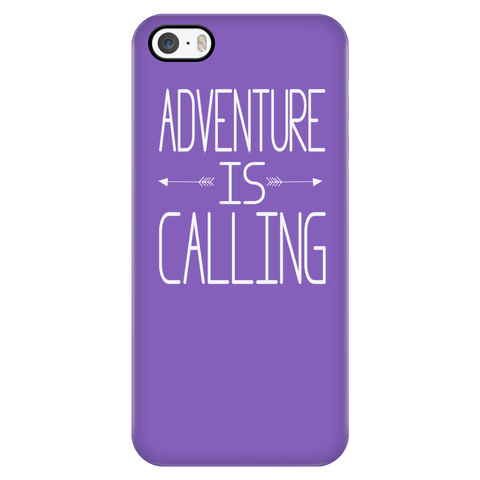 teelaunch Phone Cases iPhone 5/5s Adventure Is Calling - Purple iPhone Case