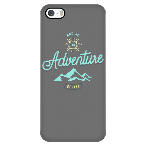 teelaunch Phone Cases iPhone 5/5s And So The Adventure Begins - Grey iPhone Case