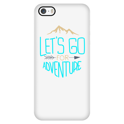 teelaunch Phone Cases iPhone 5/5s Let's Go For Adventure - White iPhone Case