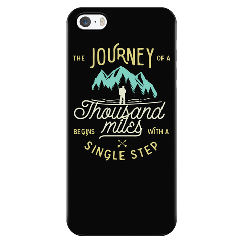 teelaunch Phone Cases iPhone 5/5s The Journey of A Thousand Miles Begins With A Single Step - Black iPhone Case