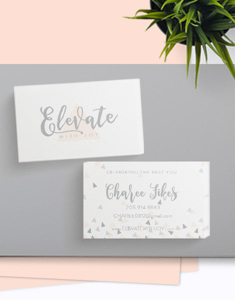 ELEVATE WITH JOY BUSINESS CARDS