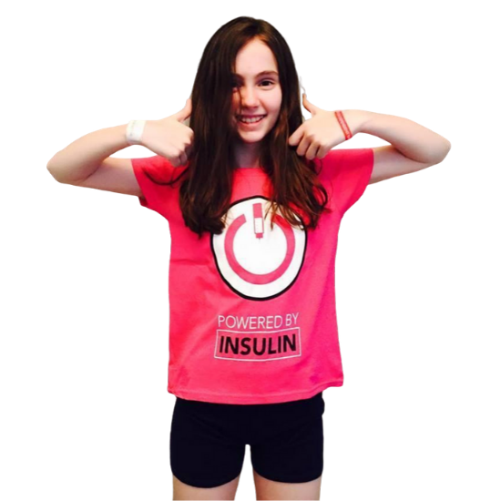 Powered by Insulin Tee (Girls)
