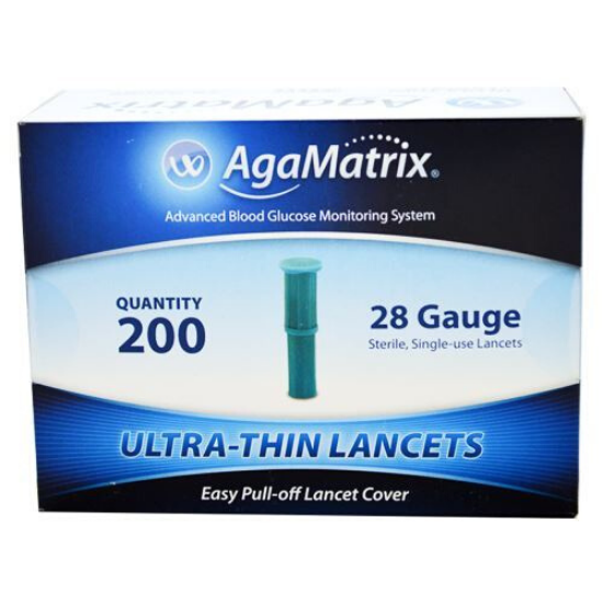 Agamatrix Ultra Thin 0.35mm/28g Lancets (200)