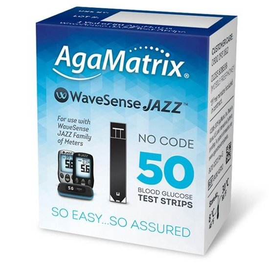 WaveSense Jazz Blood Glucose Test Strips (50)