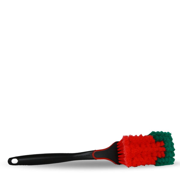 Wheel Brush - w/ Protective Rubber Edge