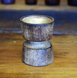 Wood Groove Resin Cup