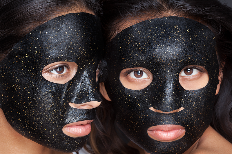 24k Gold Hydrating Black Charcoal Mask [Pack of 4]