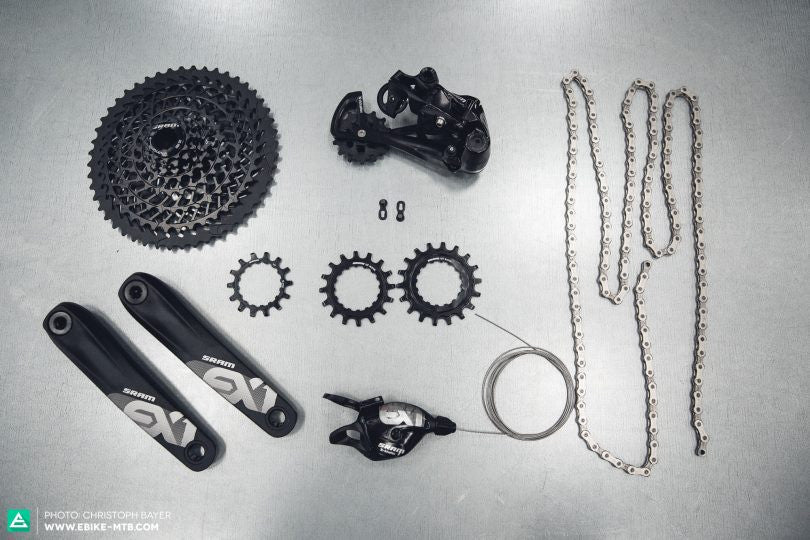 SRAM EX1 REVIEW: 8-GEAR DRIVETRAIN FOR E-MTBS, by Robin Schmitt, Christoph Bayer