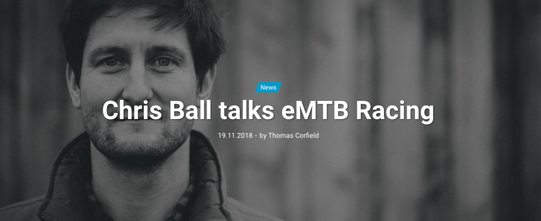 Chris Ball talks eMTB Racing