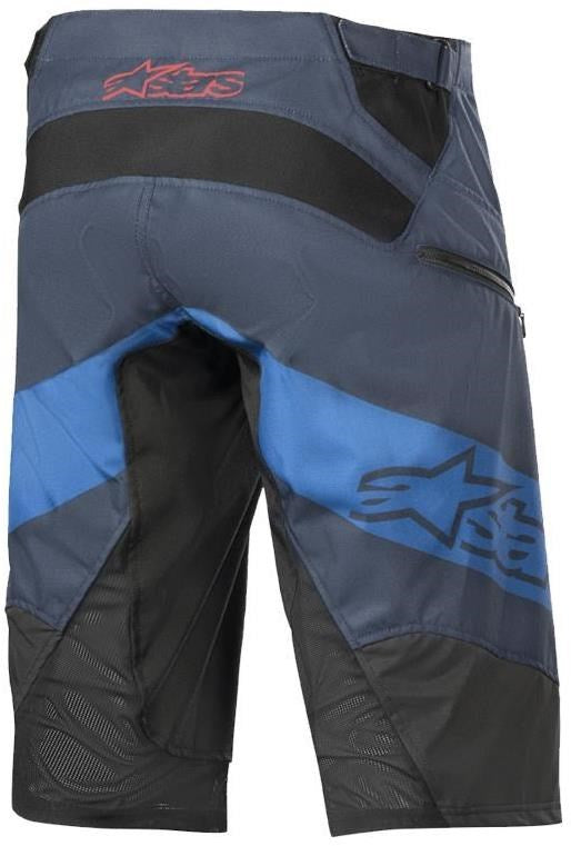 Alpinestars Racer Shorts, mens - grey/blue/burgundy