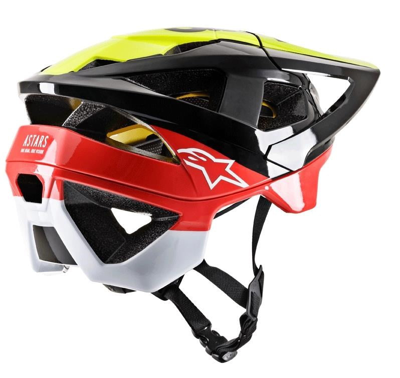 Alpinestars Vector Tech MIPS MTB Helmet - black/yellow/red gloss