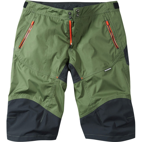 Madison Winter Storm Men's Waterproof Trail Shorts, Olive Green