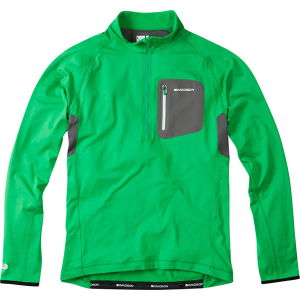Zenith Men's Long sleeved Thermal Jersey, Fern Green