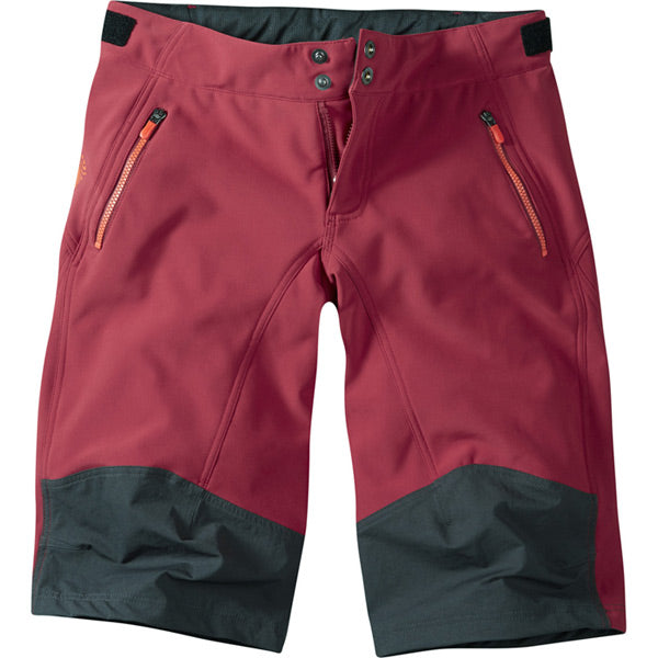 Madison Flo Women's Softshell trail Shorts, Blood Red