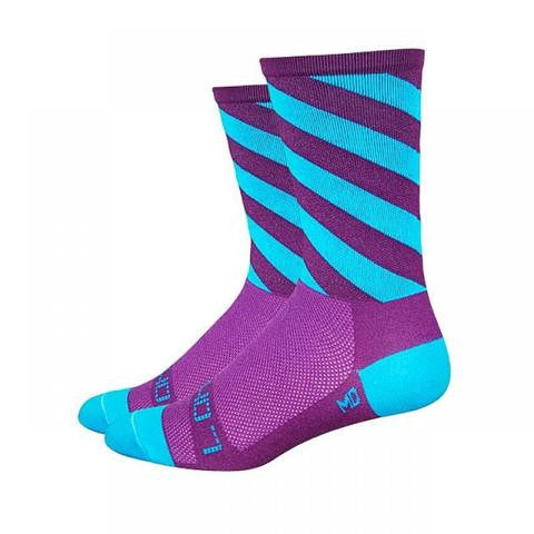 Sak07 Off Kilter Purple/Stripe Socks
