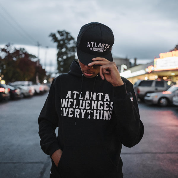 "Bem Joiner says ""Atlanta Influences Everything"" Hoodie (Black/White)"