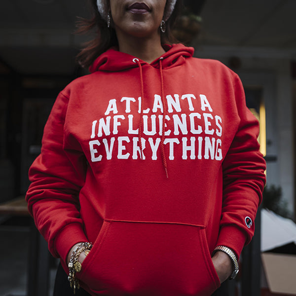"Bem Joiner says ""Atlanta Influences Everything"" Hoodie (Red)"