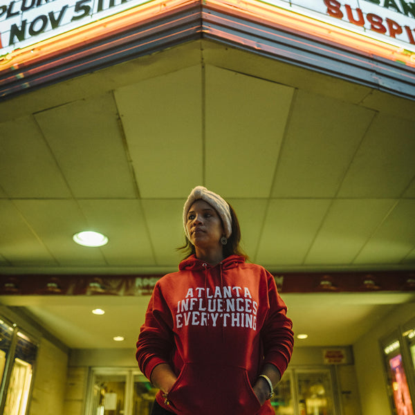 "Bem Joiner says ""Atlanta Influences Everything"" Hoodie (Red/White)"