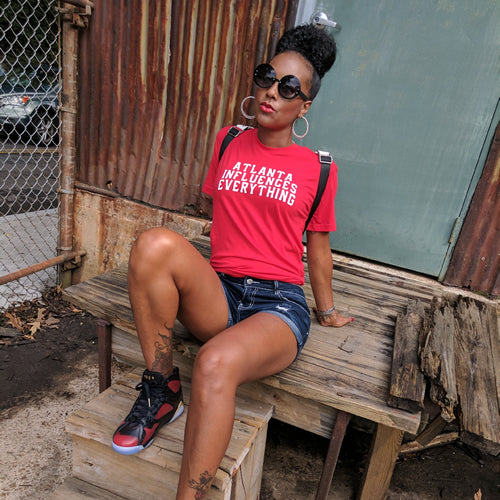"Bem Joiner says ""Atlanta Influences Everything"" Tee (Red/White)"