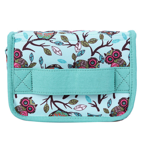 1 Pc 20-Slot Green New Style Birds Pattern Portable Shock-resistant Essential Oil Carrying Storage Case Bag Double Zips M 1STL - Fantastic Fashion